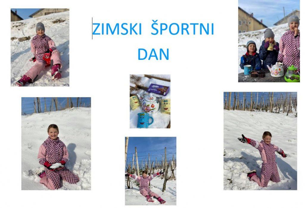 Zimski športni dan 4. a-razreda